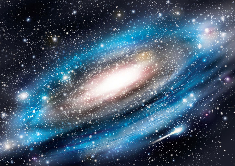 Galaxie von der Sternwarte aus gesehen