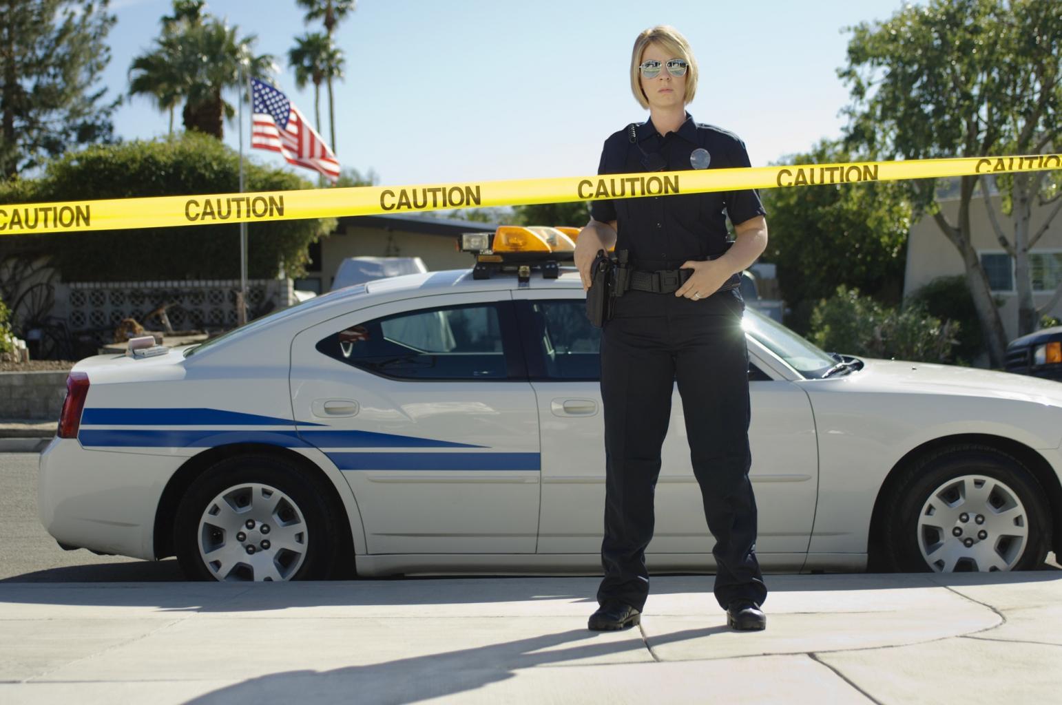 Der Tatort wird von der Polizei gesichert